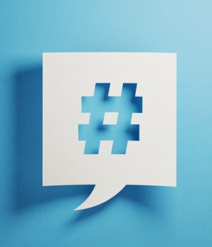 hashtag symbol for using social media