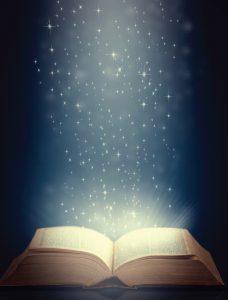 light shining on bible