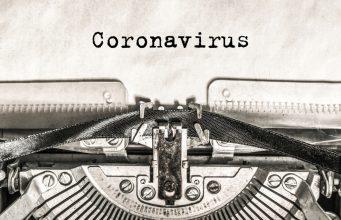 Coronavirus on a typewriter type