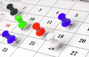 calendar marking hospitalist work shifts