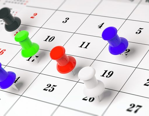 calendar marking hospitalist work shifts