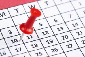 10 days on calendar